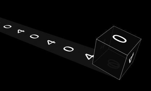 网页3D立体几何图形设计代码纯CSS3制作创意404正方体翻滚动画效果