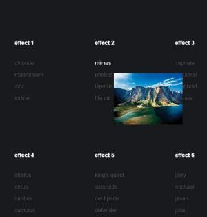 JS前端开发网页代码CSS鼠标属性样式和HTML5标签实现超链接悬停显示图片特效