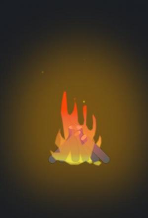 创意设计素材网站HTML5与CSS选择器样式表制作木柴燃烧动画特效场景