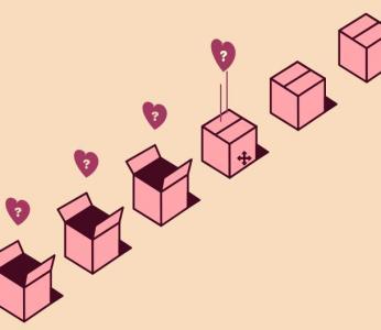 网页3D立体素材制作与下载HTML5和CSS选择器绘制SVG情人节盒子动画特效