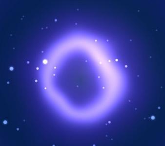 网页素材网站动态背景免费下载HTML5设计紫色光圈粒子背景动画特效