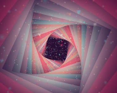 特效网页设计代码HTML5与CSS选择器样式表绘制3D万花筒黑洞旋转动画特效