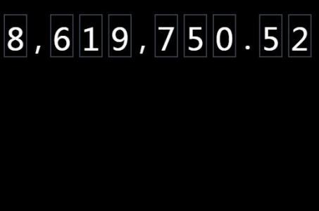 JS前端开发素材网站网页CSS选择器属性样式实现数字动态累计滚动效果