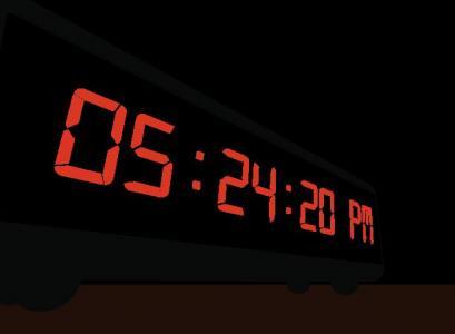 网站数字时钟UI设计大全HTML5与CSS选择器数字属性代码设计3D液晶数字时钟样式效果