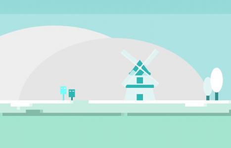 动画设计素材网站HTML5代码与CSS3设计创意卡通冬季场景动画效果