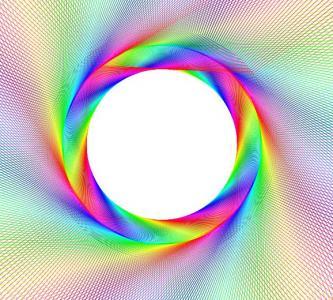 前端开发特效网页HTML5代码与Canvas画布设计彩虹圈动画效果