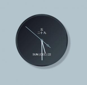 网页素材网站创意大气时钟制作与下载js代码制作带文本标签月份和星期圆形挂钟