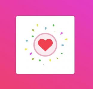 CSS3网站特效代码绘制卡通动画图形图像SVG爱心点赞动画特效