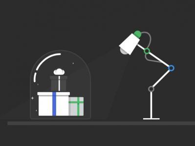 纯CSS3选择器属性样式表设计制作卡通台灯照射礼物动画特效HTML素材网站下载