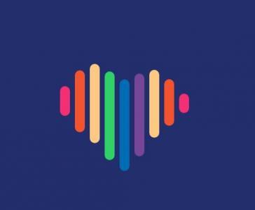 创意彩色动画素材设计与下载CSS3绘制爱心形状加载动画特效