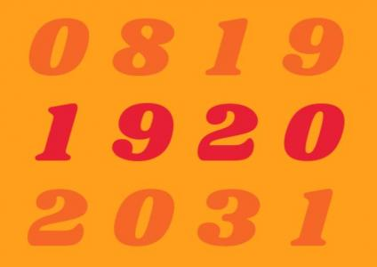 网站数字动画设计与制作纯CSS3代码绘制年份数字上下动态滑动切换效果