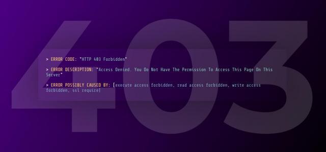 网站模板页面素材设计代码HTML5布局制作大气网页403静态页面