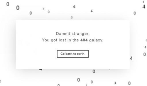 CSS3网页选择器代码与HTML标签布局制作带弹出层的网站404背景静态页面