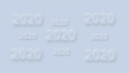 JS鼠标特效代码与CSS绘制带阴影效果的2020数字随鼠标移动而动动画代码