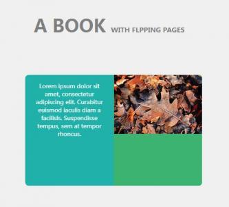 jQuery特效网页设计制作平面书本展示效果鼠标点击书本翻页动画代码