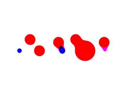 纯CSS3网页动画特效代码绘制彩色圆形图像相互柔和移动动画效果网站特效下载