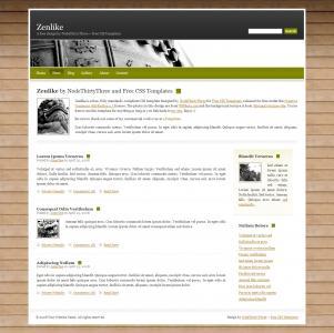 带有木质背景的个人博客英文网站模板免费博客模板下载