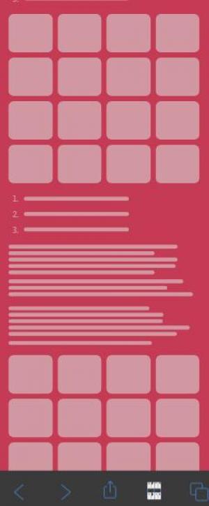 CSS样式表和H5代码排版设计移动APP网页页面展示效果