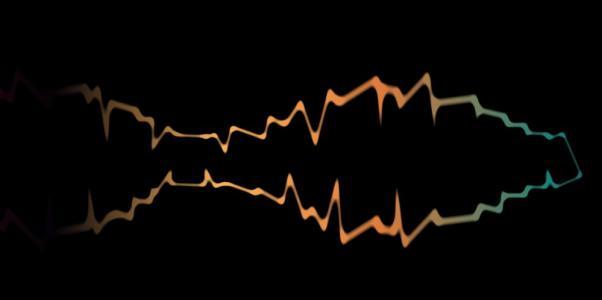 CSS渐变属性和JS设计渐变波纹图形波动效果