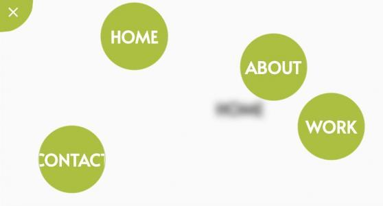 网页素材下载HTML设计个性全屏导航菜单鼠标点击切换效果