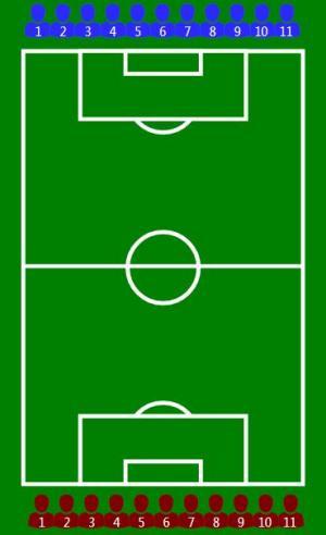 平面设计网页制作代码JS和H5设计卡通足球场图像样式效果
