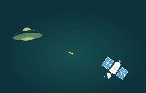 JS网页特效代码和CSS动画制作太空中飞船与卫星大战动画场景