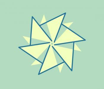 纯CSS3网页样式表制作代码绘制几何图形描边旋转动画效果