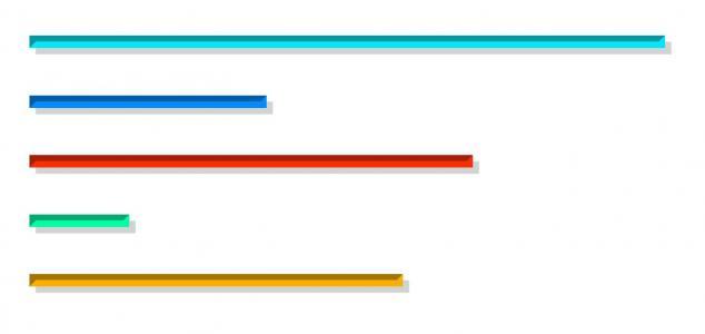JavaScript特效和CSS样式表属性制作带阴影效果的动态彩色进度条