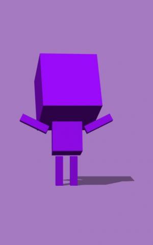 canvas设计代码制作创意方块机器人图形随鼠标移动旋转动画效果