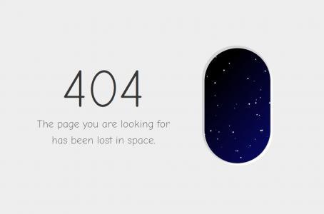 网页素材下载代码CSS3制作窗外动态星空404网站静态页面