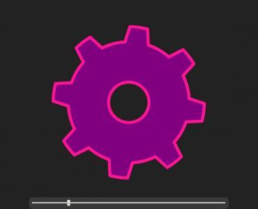 JavaScript特效代码与CSS3旋转属性实现鼠标拖拽滑块设置轮齿样式