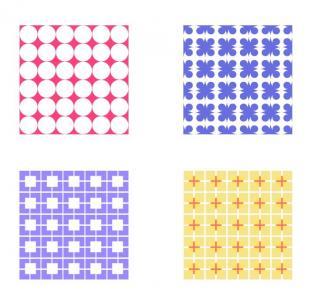 纯CSS3选择器样式代码设计制作十款不同BOX阴影背景图案