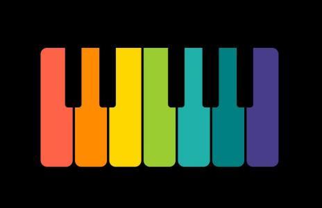 网页制作代码CSS和H5标签设计卡通钢琴鼠标滑过钢琴高亮展示效果