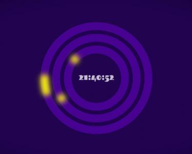 JS时间代码与CSS圆角属性绘制创意个性环形时钟UI样式效果