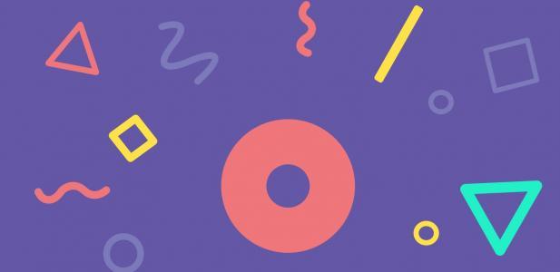 JavaScript网页特效与HTML代码设计创意简笔画几何图形背景图案