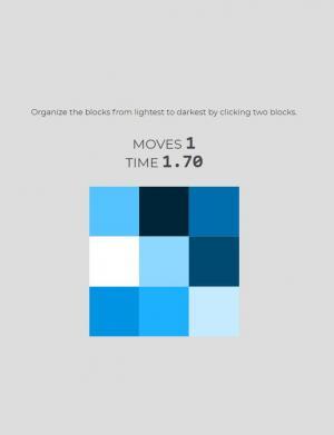 网页拾色器代码JS实现鼠标点击彩色方块实现调色板复位功能效果