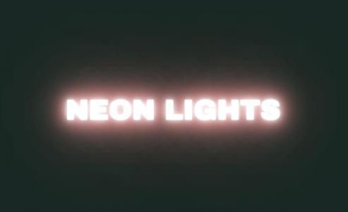 网页素材网站特效设计与制作CSS样式表绘制发光英文字母