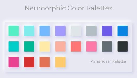 HTML5素材网站CSS样式表颜色属性制作大气彩色方块调色板