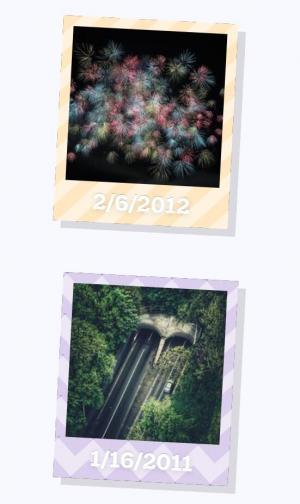 图片特效代码HTML和CSS选择器制作带阴影效果的相册墙图片展示