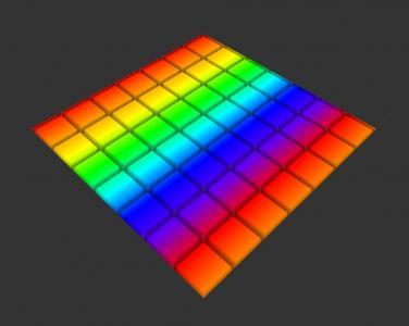 设计网站大全CSS属性绘制渐变背景空间视觉效果的3D单元格展示样式效果