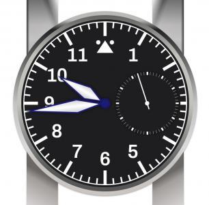 JavaScript时间特效代码与CSS样式表设计大气响应式手表样式效果