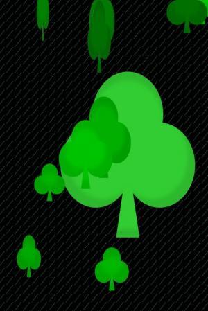 CSS动态背景属性绘制绿色植物图像翻转动画效果鼠标点击切换代码