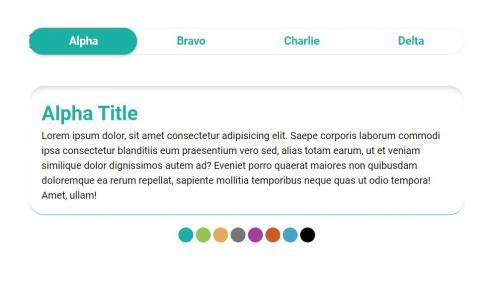 网页素材免费下载HTML标签样式排版设计导航tabs选项卡样式代码