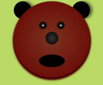 卡通动物图像设计与制作H5标签和CSS3代码绘制小熊头像样式效果