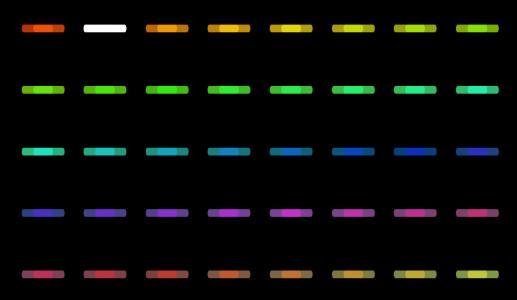 vue.js代码绘制彩色icon小图标鼠标滑过图标动态切换效果