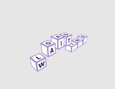 网页loading加载动画设计CSS选择器代码绘制创意正方体字母跳动效果