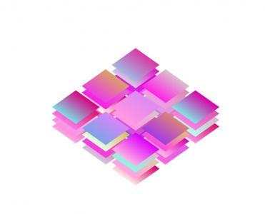JS特效和HTML5标签设计代码绘制彩色正方形叠加样式效果