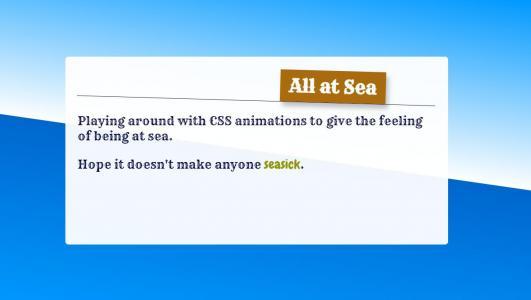 CSS动画属性选择器设计文本随网页背景水平倾斜而移动动画效果