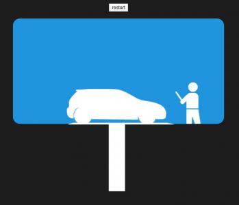 JavaScript代码和CSS动画属性制作简笔画停车场停车动画场景