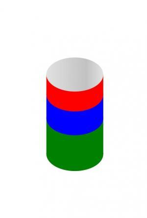 图形设计代码JS特效与CSS选择器代码绘制简单卡通彩色圆柱体图形